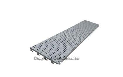 HYBRIDNÍ zadní panel děrovaný 1250x200x0,9 mm
