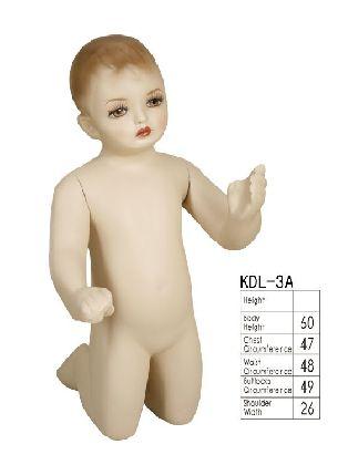 Dětský manekýn, tělová barva
