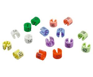 Minireitery barevné různé čísla, balení 50ks