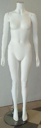 Dámský manekýn v bílé barvě bez hlavy