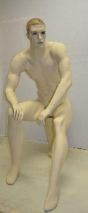 Pánský sedící manekýn, barva tělová