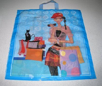 LDPE tašky s motivem holka na shopping