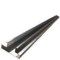 Hliníková lišta L-insert do drážky Slatwall panelu, 2400mm.