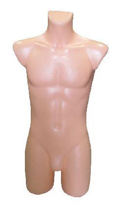 Pánské ¾ torzo tělové barvy,plast