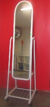 Pojízdné zrcadlo bílé