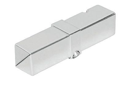 Pochromovaná trubková spojka na jekl 25x25x1,2mm