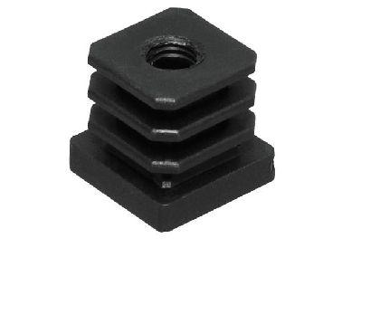 Plastová vložka do jeklu 25x25mm se závitem M10