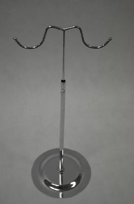 Chrom. stavitelný stojan na kabelky, velká ucha