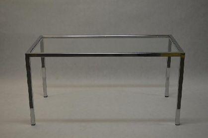 Pochromovaný rám prodejního stolu 1500x600x900