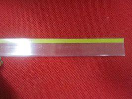 Cenovková lišta průhledná 625x26mm s nál.