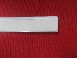 Cenová lišta mléčná s nálepkou a úhlem 625x26mm