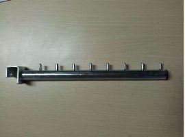 Rameno rovné na hranatý profil 20mm, 300mm, pozink