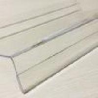 Akrylové polička hranatá s ohybem na cenovky 25x10cm