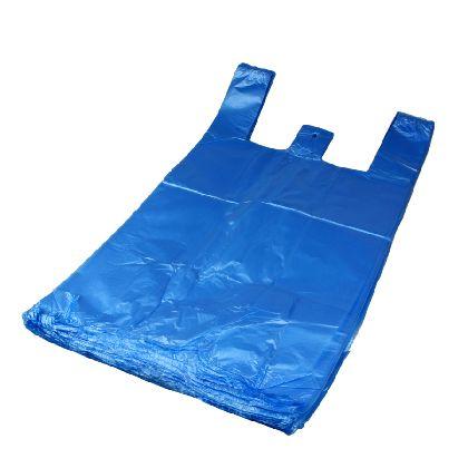 HDPE mikroténová taška modrá 10kg v bloku
