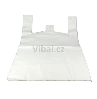 Taška na kabáty 60x55cm, bílá,250ks/kar