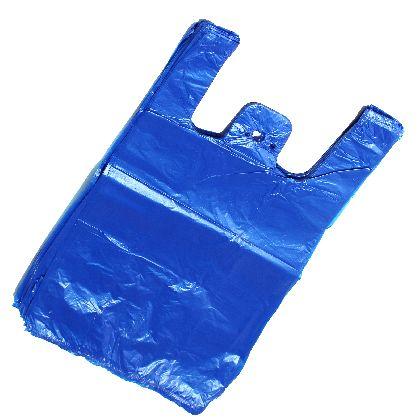 HDPE mikroténové tašky, modrá barva 15kg v bloku