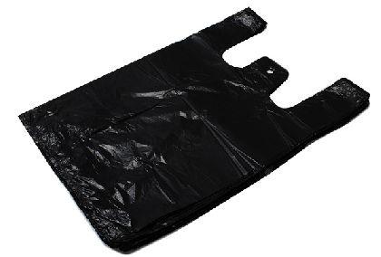HDPE mikroténové tašky, černá barva 15kg v bloku