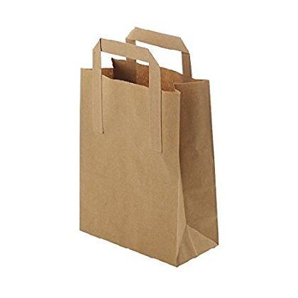 Papírová taška hnědá KRAFT 32+16x27 50ks/balení