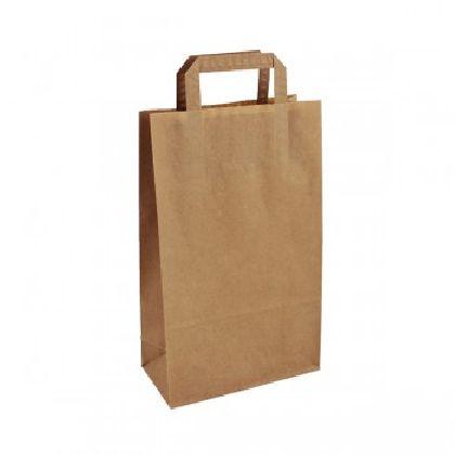 Papírová taška hnědá KRAFT 22+10X36 50ks/balení