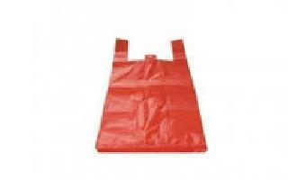 HDPE mikroténová taška červená 10kg v bloku, EXTRA SILNÁ