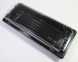 BOPS černý Sushi box s víčkem 220x90x50/50ks/8bal