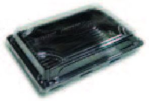 BOPS černý Sushi box s víčkem 165x115x50/50ks/8bal