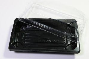 BOPS černý Sushi box s víčkem 256x185x51/50ks/4bal