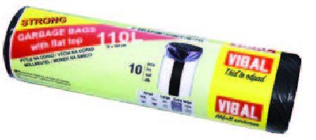 HDPE pytle černá 110L/10ks/20role/70x105cm/18my/