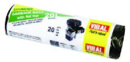 HDPE černý sáček 20L EKO/50ks/80rol/45x54/7my/160g