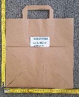 Papírová taška hnědá KRAFT 28+17X29 50ks/balení