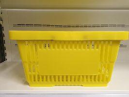 Plastový nákupní košík 2 držadla Žlutá/Modrá