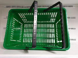 Plastový nákupní košík 2 držadla Zelená