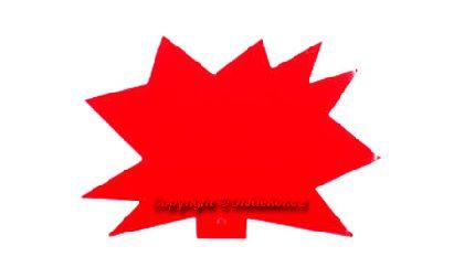 Visačky 'Ježek' 120x88 červené