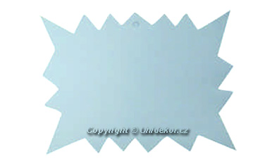Visačky 'REBEL' 120x88 bílé