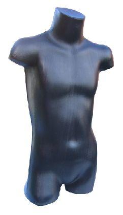 Torzo 3/4 těla dětské, černé.
