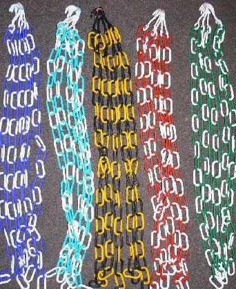 Plastový řetěz 1m, barevný.