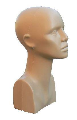 Plastová hlava dámská, béžová