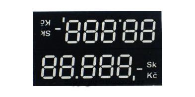 Cenovky digi oboustranné šířka 68mm.