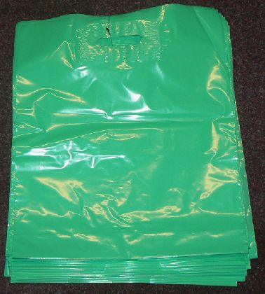 LDPE taška průhmatem, zelená, velikost: 380x440mm